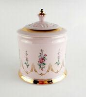 H&C BÖHMEN Original rosa Porzellan edle Vintage Bonboniere Schatulle Handgemalt