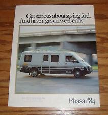 Original 1984 Winnebago Itasca Phasar Sales Brochure 84