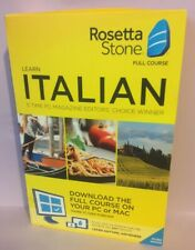 Rosetta Stone - Italian Full Course Online Subscription W/ Download - Brand New