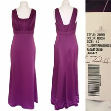 Dessy Collection Dress Gown UK 12 Purple Satin Strappy Wedding Party NEW £224