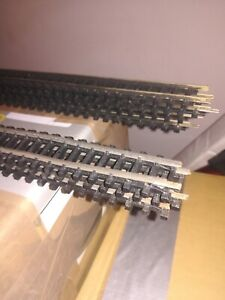 "TRIANG TT TRACK 7 X 18"" LONG STRAIGHTS GOOD"