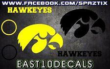 IOWA Hawkeyes Cornhole Decal sticker 6 pc Set package deal!