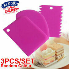 3pcs Cutter Scraper Cake Baking Decorating Tools Cookie Edge Smoother Icing