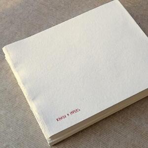 KHADI HANDMADE RAG PAPER BOOK BLOCK 21 x 25 cm Rough