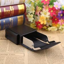 Black Ciga rette Hard Case Box Pouch PU Leather Holder Wallet Purse