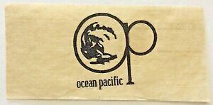 Original Vintage Ocean Pacific Logo Mini Iron On Transfer Black