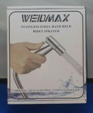 WEIDMAX Hand Held Bidet Sprayer Stainless Steel Brushed Nickel Sprayer Kit