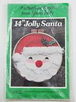 """Yours Truly Applique Pattern 14"""" Jolly Santa Round Hoop Pattern 1980 UNCUT"""