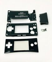 BRAND NEW Game Boy Micro Full Housing Shell Replacement GBM W/ Faceplate Black