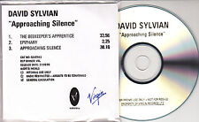 DAVID SYLVIAN Approaching Silence 1999 UK 3-track promo test CD