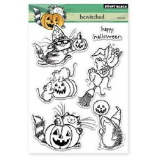 PENNY BLACK RUBBER STAMPS CLEAR BEWITCHED HALLOWEEN STAMP SET 2015
