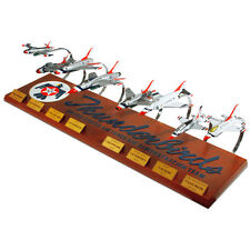 USAF Thunderbirds Collection Set Of 8 Desk Display 1/72 Model Jet ES Airplane
