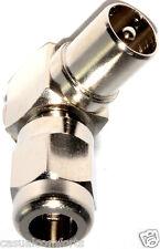 TV Freeview Rf Coaxial 90 ° grados de ángulo recto Antena Macho plug/coax Conector De Metal
