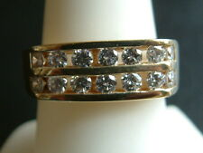 MEN'S DIAMOND RING 1.05 CT F-G-VS 14K SOLID YELLOW GOLD GREAT LOOKING $3500