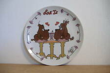 ~LOVE IS~RUFUS & ROXANNE~COLLECTOR DOG  PLATE~ERNST~#1~