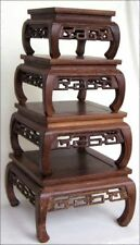 4pc HAND CARVED ROSEWOOD BONSAI DISPLAY STAND