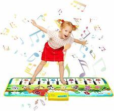 Musikmatte Spielzeug Maedchen 1 Jahr, 2 ,3,4 Jahre,Klaviertastatur Tanzmatte