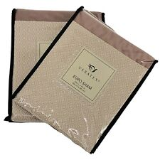 Veratex Brielle Blush Geometric Sueded Reversible Euro Pillow Sham Set Of Two 2