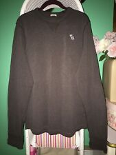 Mens Abercrombie & Fitch Long Sleeve 100% Cotton Heavy Pull Over Muscle Top XXL