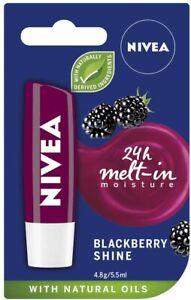 NIVEA LIP BALM BLACKBERRY SHINE 4.8G