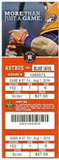 2014 Astros vs Blue Jays Ticket:  Gregorio Petit hit his first career home run