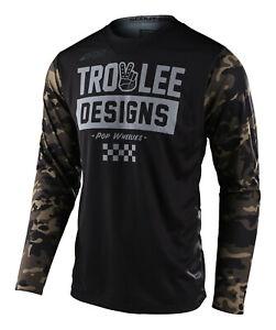 Troy Lee Designs Scout GP Jersey Peace & Wheelies - Camo Black