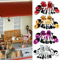 13 Pcs Kids Play Kitchen Cooking Utensils Pots Pans Accessories Set Children Toy