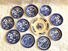 Vintage Antique Plates Porcelin Japan Blue White 11 Plates