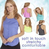 Ladies Gym Yoga Tank Tops Stretchy Sleeveless Flowy Tees Racerback Sport Shirts