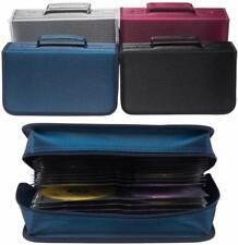 More details for 128 cd case dvd wallet cover disc storage holder sleeve handle portable car home