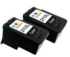 2PK INK FOR CANON CL211XL CL-211XL CL 211XL COLOR 2975B001 PIXMA MP280 MP480
