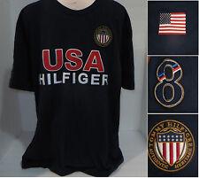 TOMMY HILFIGHER Mens USA America Crewneck Short Sleeve Tee T-Shirt Size XL Blue