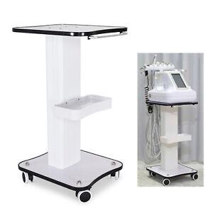 Beauty Salon Stand Rolling Cart SPA Beauty Machine Holder Trolley 3 Tier