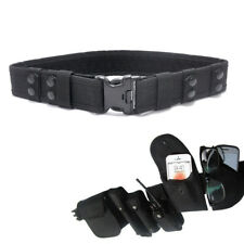 """2.2"""" Security Safety Police SWAT Tactical Combat Utility Nylon Duty Belt Black"""