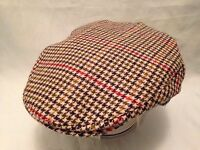ENGLISH TRADITIONAL RETRO NEWSBOY FLAT CAP COUNTY TWEED MADE IN GREAT BRITAIN