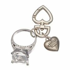Juicy Couture Put A Ring On It/Engagement Ring Heart Clip Key Chain;NWT in Box