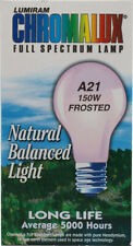 Chromalux Full Spectrum Lamp Light Bulb Frosted A21 150W 5000 Hours - 1 Bulb