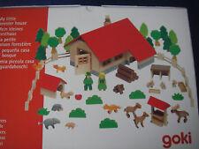 groß mit 53 Teilen Holz-Baukasten Provence Holzspielzeug