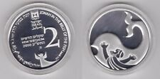 ISRAEL - SILVER 2 NEW SHEQELS PROOF COIN 2010 YEAR JONAH IN BELLY WHALE BIBLICAL