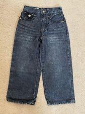 Youth Boy's Makaveli Distressed Black Jeans Moto Denim Pants Wide Leg Size 6