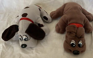 Lot of 2 Vintage Pound Puppies Plush Dogs Tonka Brown Grey Spots