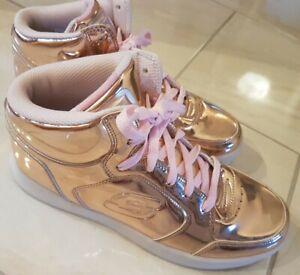 Skechers energy lights LED metallic Sneaker Größe 39,5 wie NEU