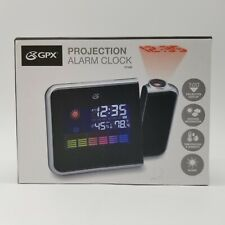 GPX Projection Alarm Clock In Box - Temperature, Humidity And Weather