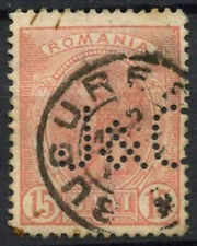 "Romania 1890's-1910's 15b Perfin ""J&O""? Used #D5965"