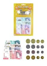 Childrens Kids Pretend Toy Fake Money ££ Cash Notes Coins Role Play At Shops