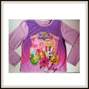 Licensed Shopkins Pink T Shirt Sizes 5 6 7 8 10 Party Christmas Birthday NEW