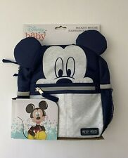 Disney Baby Mickey Mouse Harness Backpack w/Adjustable Straps & Zipper Closure