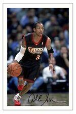 Allen Iverson Philadelphia 76ERS Autographe Signé imprimé photo Basketball