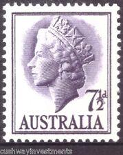 1957 7 1/2d  VIOLET/PURPLE QUEEN ELIZABETH 2ND QE2 AUSTRALIAN POSTAGE STAMP -MUH