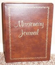 Missionary Journal LDS Mormon Brown blank pages